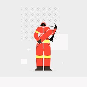 Mujer bombero