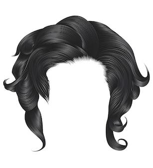 Mujer cabello rizado color gris.