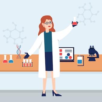 Mujer científico
