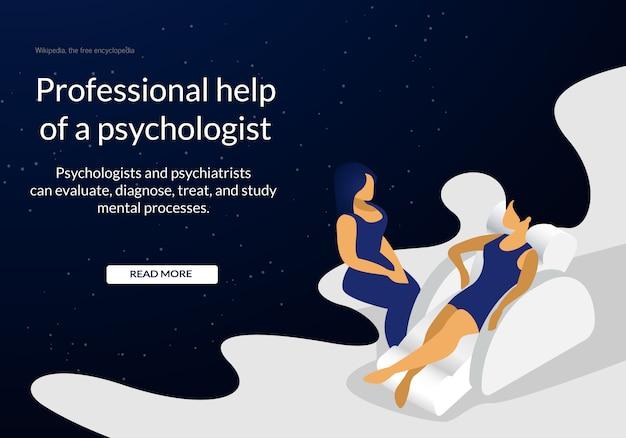 Mujer deprimida joven en la cita del psicólogo.