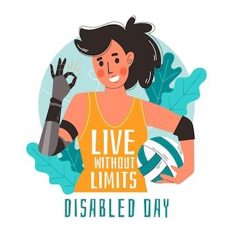 Mujer con discapacidad gesto ok