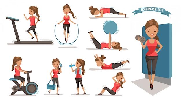 Mujer de ejercicio