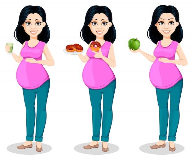 Mujer embarazada. bella dama