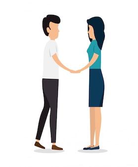 Mujer y hombre pareja juntos