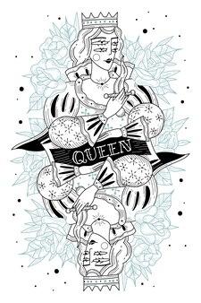 Mujer joven con cuchillo y corona