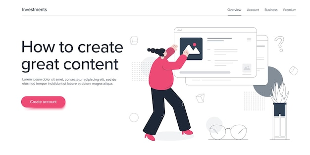 Mujer joven gestionando contenido online