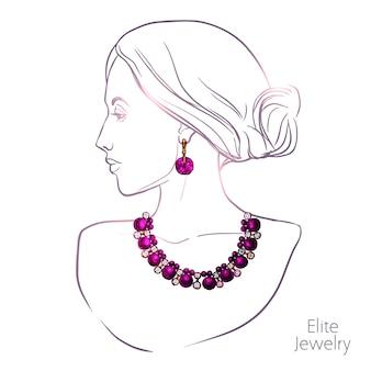 Mujer y joyas
