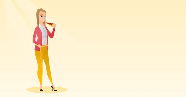 Mujer medir cintura
