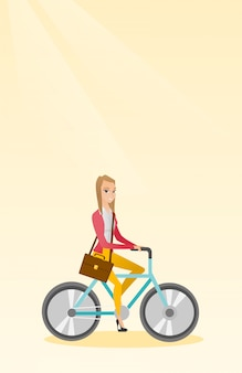 Mujer montando bicicleta