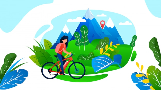 Mujer montando bicicleta.