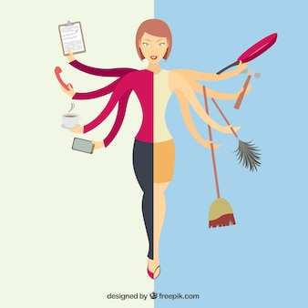 Mujer multitarea