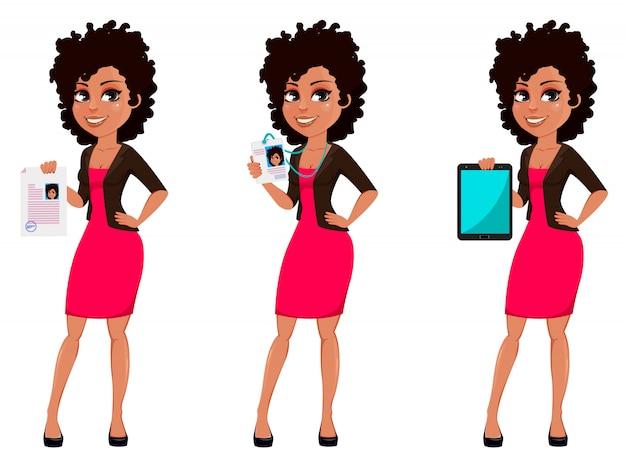 Mujer de negocios afroamericana joven