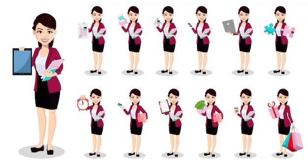 Mujer de negocios asiática en ropa de oficina