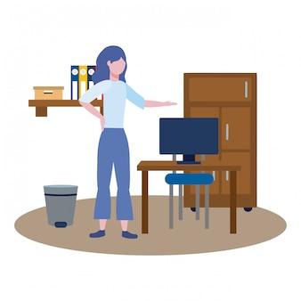 Mujer de negocios avatar de dibujos animados