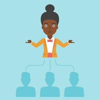Mujer de negocios elegir empleado.