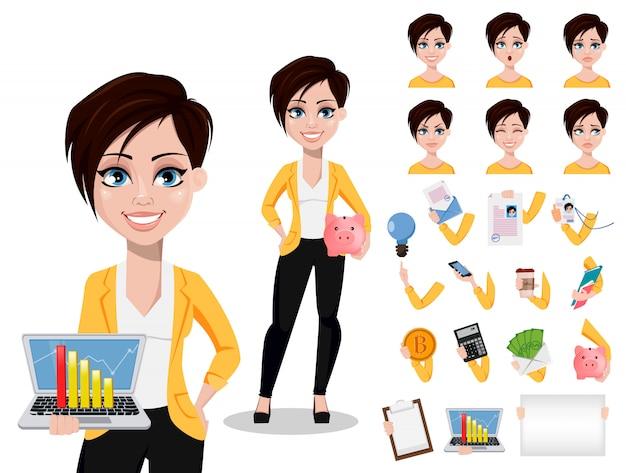 Mujer de negocios, freelance, banquero