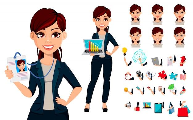 Mujer de negocios hermosa joven