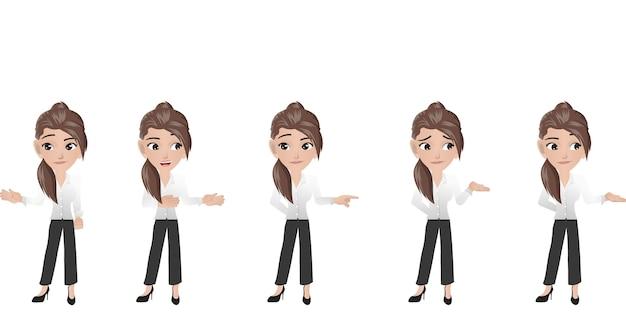 Mujer de negocios que describe
