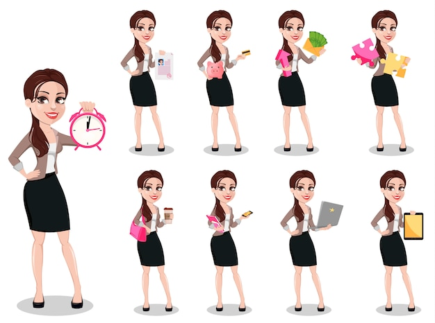 Mujer de negocios en ropa casual