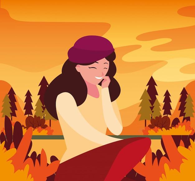 Mujer en otoño