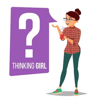 Mujer pensante