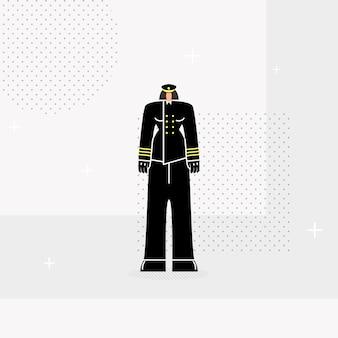 Mujer policía oficial plana