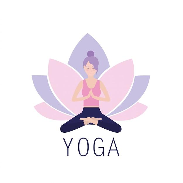 Mujer practica armonía yoga ejercicio