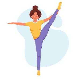 Mujer practicando yoga estilo de vida saludable relajarse meditación