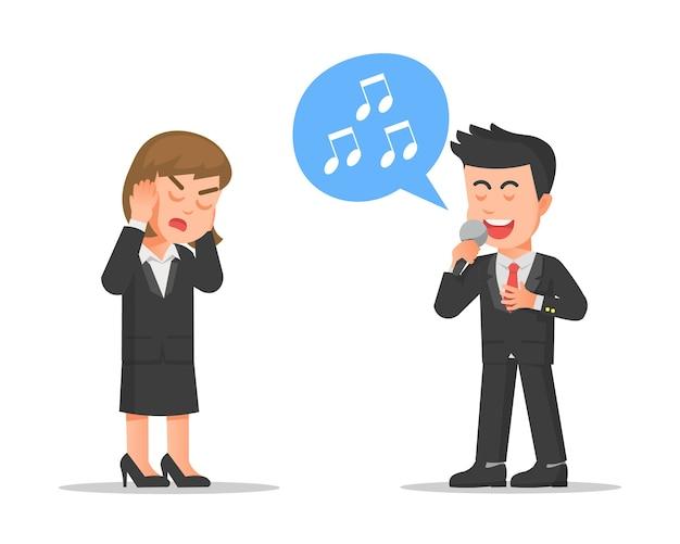 Una mujer a la que no le gusta escuchar la voz de su amiga