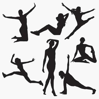Mujer siluetas de fitness