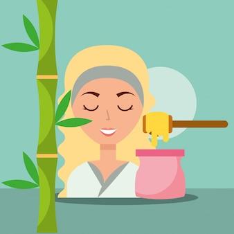 Mujer spa bienestar