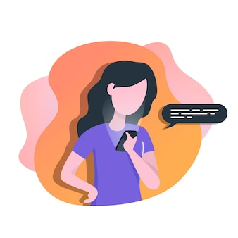 Mujer con teléfono