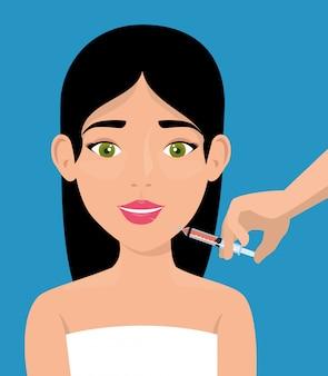 Mujer con tratamiento de botox
