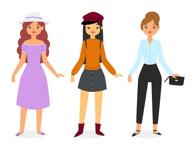 Mujer vistiendo ropa de moda set