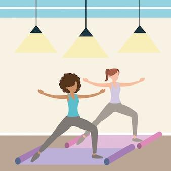Mujer y yoga