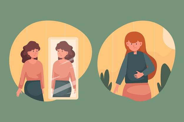 Mujeres con baja autoestima