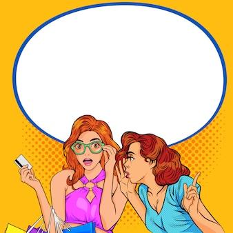 Mujeres contando chismes