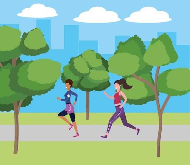 Mujeres corriendo con ropa deportiva