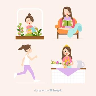 Mujeres disfrutando de su tiempo libre