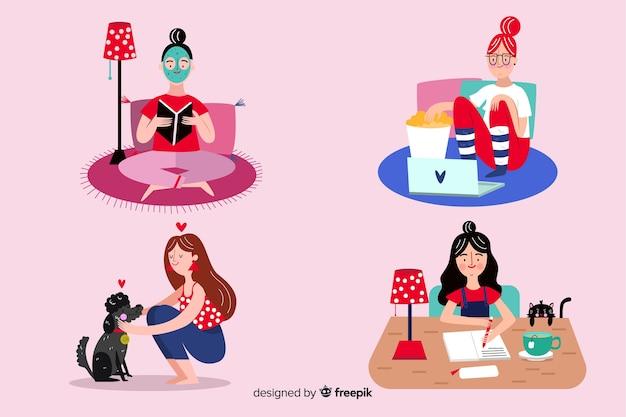 Mujeres disfrutando su tiempo libre