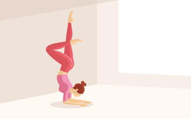 Mujeres hermosas de la forma practican yoga