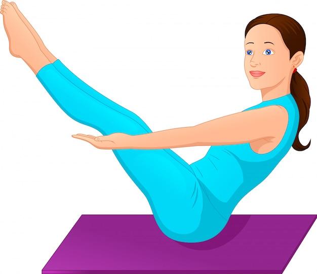 Mujeres jóvenes haciendo ejercicios de yoga