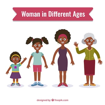 Mujeres negras en diferentes edades