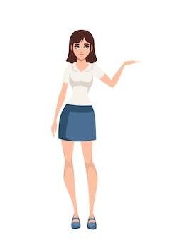 Mujeres de pie en ropa casual