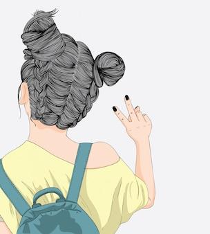 Las mujeres con la piel bronceada son mochileros.