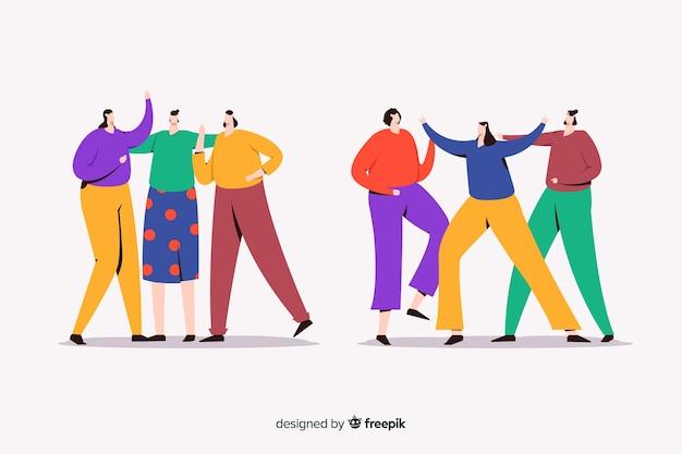 Mujeres que pasan tiempo juntas ilustradas