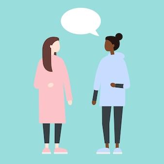 Mujeres que tienen dialogo
