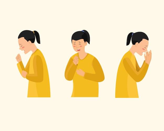 Las mujeres que tosen se enferman