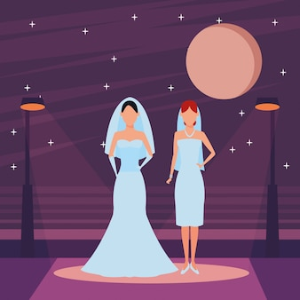 Mujeres vestidas de novia