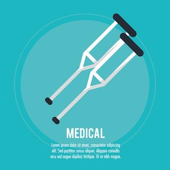 Muletas médicas cuidado de la salud